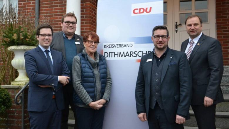Kreisvorsitzender Volker Nielsen mit seinen Stellvertretern