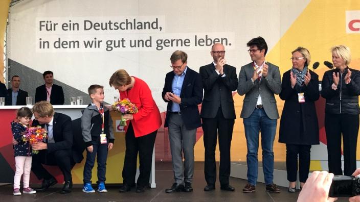 Angela Merkel in St.Peter Ording