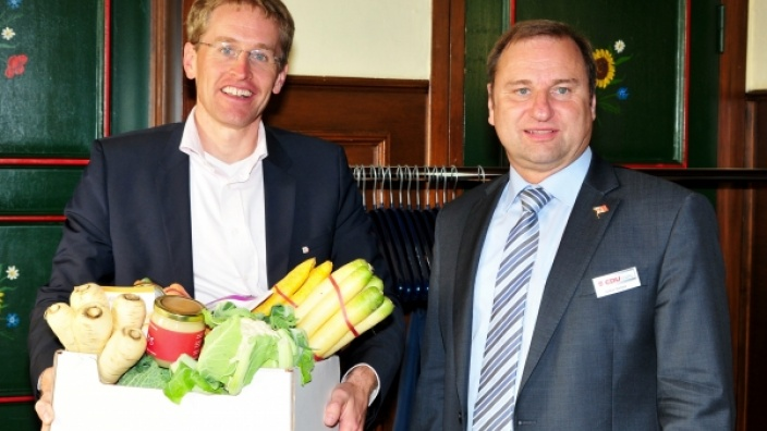 Erfolgreicher Besuch vom Oppositionsführer Daniel Günther in Dithmarschen