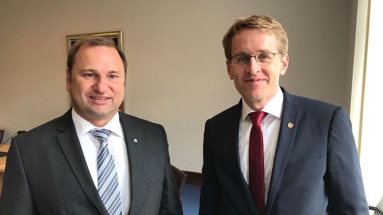 Volker Nielsen und Daniel Günther